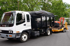 Landscape Truck & Trailer Loaded