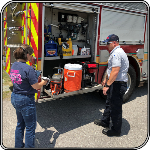 Columbia County Fire RFID scanning assets